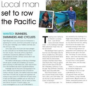 Fraser in Index magazine Tunbridge Wells