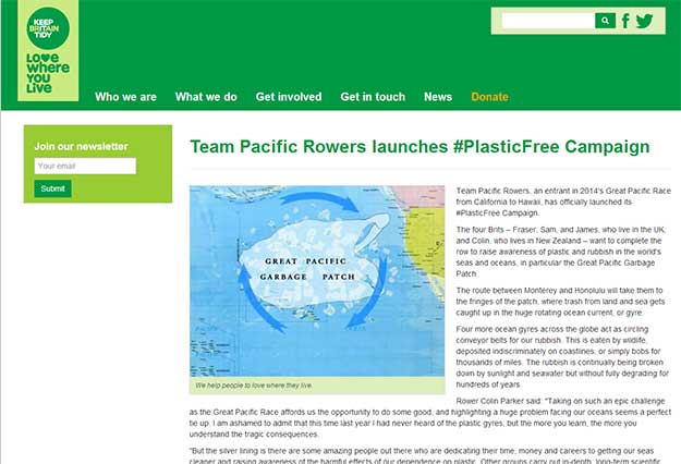 Team Pacific Rowers in Keep Britain Tidy