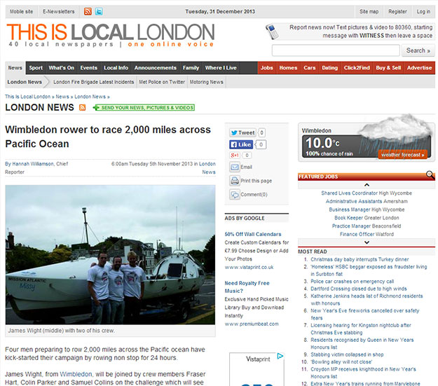 Team Pacific Rowers in This is Local London