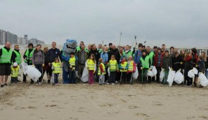 Gregory's beach clean ups attract dozens of conscientious Belgians.
