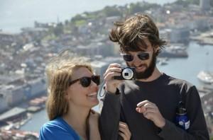Danny with his girlfriend Erin in Norway.
